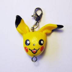Polymer clay Pokemon Pikachu charm/pendant by AnniCrafting on Etsy