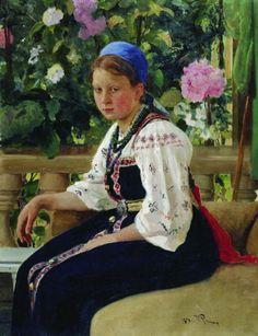Портрет С. Ф. Мамонтовой. 1879. Илья Ефимович Репин