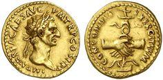 AV Aureus. Roman Coin, Roman Empire, Nerva 96-98 AD. 96 AD. 7,33g. RIC 223, 3. R! Almost EF/VF. Price realized 2011: 9.500 USD.