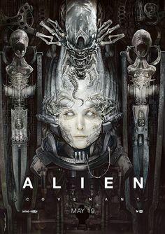 An imaginary Alien:Covenant poster from April Hope you like it. Alien Film, Alien 1979, Alien 2017, Les Aliens, Aliens Movie, Arte Alien, Alien Art, Alien Covenant Movie, Hr Giger Art