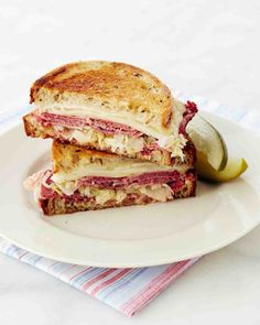 Try Martha Stewart& reuben sandwich recipe from her Martha Stewart& Cooking School show on PBS Food.