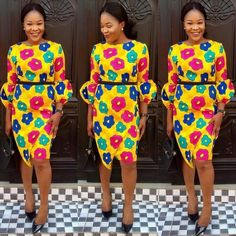African Ankara Dresses with Newest Fashion Collection - Reny styles Short African Dresses, Ankara Short Gown Styles, Trendy Ankara Styles, African Print Dresses, African Print Fashion, African Fashion Dresses, Ankara Fashion, African Clothes, African Lace