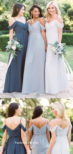 Simple Pleated Off The Shoulder Long A-Line Bridesmaid Dresses 7ab96eea10fe