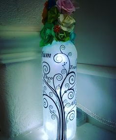 Family Tree Bottle Lamp