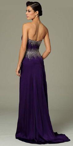 dea7f5a8fb29 Jovani 77488 Plum Strapless Satin A-Line Gown (Rear #2B) Jovani Dresses