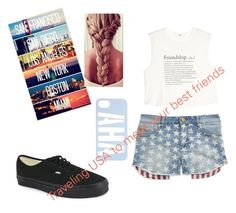 """""""USA"""" by meaganbrewing ❤ liked on Polyvore featuring Tinsel, MANGO and Vans"""