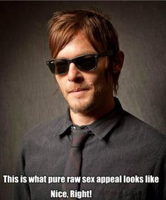He makes my lady parts tickle ;) lol ...it's true. Don't lie! I know he tickles you, too.