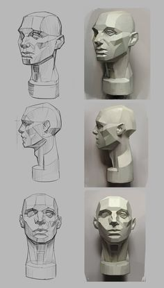 How to Art — Asaro Head Studies by ExoMemory Kunst lernen – Asaro Head Studies von ExoMemory Human Anatomy Drawing, Face Anatomy, Anatomy Art, Drawing Heads, Life Drawing, Figure Drawing, Anatomy Sketches, Drawing Sketches, Art Drawings