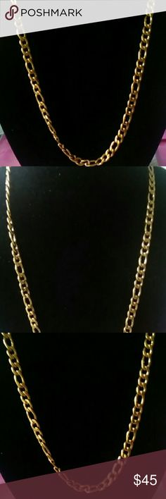 Long unisex Cuban gold plated gorgeous chain $ale Heavy weight all  $ale final Accessories Jewelry