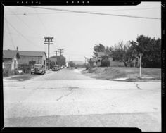 """Blake Avenue, between Denby Avenue and Knox Avenue, Los Angeles, CA, 1940 :: """"Dick"""" Whittington Photography Collection, 1924-1987"""