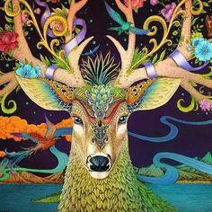 Illustration on Behance Love Drawings, Easy Drawings, Cool Gifts For Kids, Deer Art, Inspiration Art, Spirit Animal, Diy Painting, Love Art, Pagan