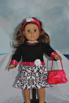 Items similar to Three-piece Ruffled Dress for 18 Inch Dolls Including the American Girl Line on Etsy Ag Dolls, Girl Dolls, Ruffle Dress, Dress Up, Doll Closet, Ag Doll Clothes, Doll Dresses, Doll Stuff, 18 Inch Doll