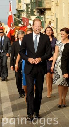 The Duke of Cambridge during a walkabout in Valletta, Malta, ahead of the 50th anniversary of its independence.
