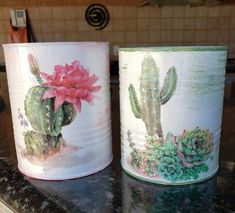 Recycle Cans, Recycling, Tin Can Art, Sewing Crafts, Diy Crafts, Tin Can Crafts, Aluminum Cans, Decoupage Vintage, Elba