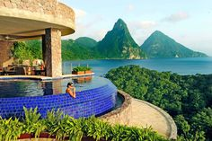 St. Lucia's Jade Mountain is an extravagant scenic resort.   http://www.xoprivate.com/suites/jade-mountain/  #travel #lifestyle www.xoprivate.com