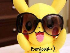 Bonjour pikachu #bonjour pikachu lunettes de soleil