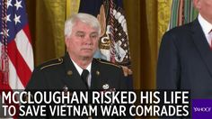 "WASHINGTON (AP) — An Army medic who ""ran into danger"" to save wounded soldiers during a Vietnam War battle despite his own serious wounds on Monday became the first Medal of Honor recipient under President Donald Trump, 48 years after the selfless acts for which James McCloughan is now nationally"