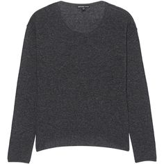 JAMES PERSE Knit Inside Out Grey // Lightweight cashmere pullover (¥47,000) ❤ liked on Polyvore featuring tops, sweaters, cashmere crewneck sweater, grey crewneck sweater, crew neck pullover sweater, lightweight sweaters and cashmere crew neck sweater