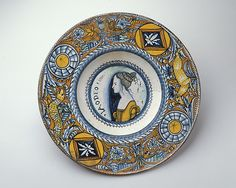 Plate (tagliere) ~ ca.1500-1510 ~ Italian, Deruta ~ Robert Lehman Collection ~ acquired by Robert Lehman through Goldschmidt Galleries, New York, 1939 ~ The Metropolitan Museum of Art