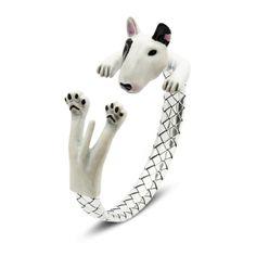 Dog Fever Enamel Bull Terrier Hug Bracelet ($750) ❤ liked on Polyvore featuring jewelry, bracelets, multi colored jewelry, colorful jewelry, multi color jewelry, multicolor jewelry and dog jewelry