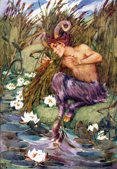 A satyr playing a tune on his pipes, sátiro, fauno Weird Creatures, Mythical Creatures, Pan Mythology, Myth Stories, Tarot, Ancient Mysteries, Mythological Creatures, Paintings I Love, Greek Gods