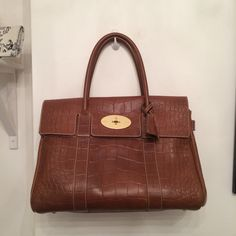 Mulberry Bayswater in Croc printed leather
