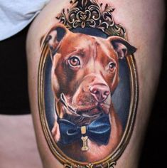 Cute and lovely dog tattoos ideas for dog lovers 27