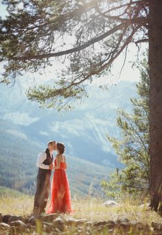 Red Gown Elopement from Brittany Esther
