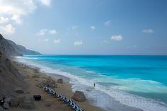 Beach of Egremni - Island of Lefkada  , the best beach I've ever been