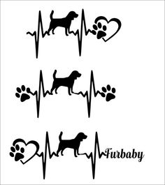 commercial use svg-SVG Cut File Cute Beagle Heartbeat paw