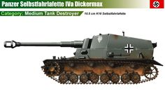 10.5 cm K18 auf Panzer-Selbstfahrlafette IVa, Dickermax Military Weapons, Military Art, Ww2 Panzer, Auto Union 1000, Wiking Autos, Fantasy Concept Art, Tiger Tank, Tank Destroyer, Model Tanks