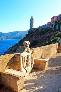 Elba Island, Villa dei Mulini, Napoleon residence, and lighthouse.