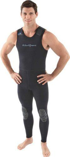 NeoSport Wetsuits Men's Premium Neoprene 3mm John, Black, X-Large - Diving…