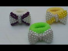 Laço de pérola como fazer e aplicar na xuxinha - YouTube Diy Crafts Hacks, Diy And Crafts, Beading Tutorials, Beading Patterns, Crochet Gloves Pattern, Bracelet Crafts, Ribbon Hair, Handmade Flowers, Fabric Flowers