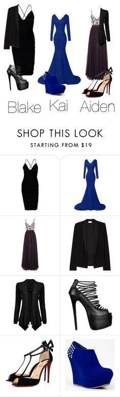 """Dresses"" by brebre25410 ❤ liked on Polyvore featuring Boohoo, Needle & Thread, American Vintage, Christian Louboutin and Bamboo"