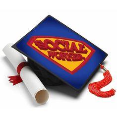 Social Worker Grad Cap Tassel Topper