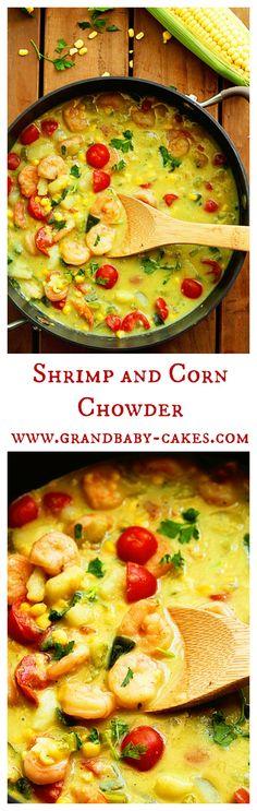 Shrimp and Corn Chowder and Tieks Giveaway!   Grandbaby Cakes