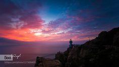 The Sunrise & the Lighthouse by SilenceMR. Please Like http://fb.me/go4photos and Follow @go4fotos Thank You. :-)