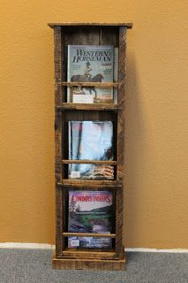 Magazine Rack Made From Pallets  -  #pallets  #palletprojects