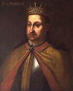 """A Monarquia Portuguesa  1211 - 1223 D. Afonso II """"O Gordo"""" (23 Abril 1185 Coimbra-21 Março 1223 Alcobaça) Casou com D. Urraca"""