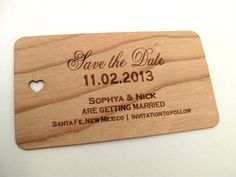 Save the date wood card (100)  / Wooden Save the Date card / Rustic Save the Date , Wedding Save the Date- Wood Personalize by Talathiel on Etsy