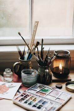 Shealeen Louise is a Botanical Watercolor Painter & Designer from Nashville, Tennessee. Prints & Originals in sold in shop. Art Studio Room, Art Hoe Aesthetic, Atelier D Art, Art Studios, Creative Inspiration, Aesthetic Pictures, Art Inspo, Watercolor Art, Art Drawings