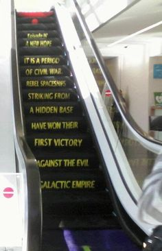 Today In Geekdom: Star Wars Fun With Escalators! - Proud To Be A Filthy Liberal Scum