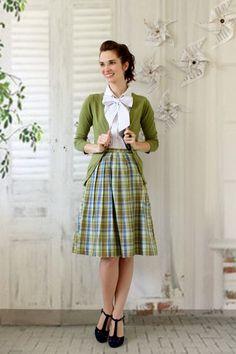 Charter School Cardigan in Sage | Mod Retro Vintage Sweaters | ModCloth.com