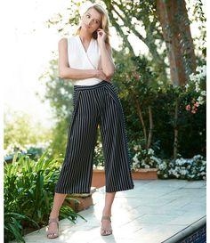 abd96ccec520f Antonio Melani Nelly Crepe Stripe Crop Culotte Pant Culotte Pants,  Trousers, Antonio Melani,