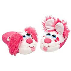 Stompeez Perky Pink Puppy (Medium). Stompeez are more than just ordinary slippers, they are slippers with personality. Just walk, stomp or jump and Stompeez come to life. Cute, adorable, warm, soft and comfy. Quality materials, and durable stitching ensure Stompeez are made to last season after season. Fits youth slipper sizes 13.5-2.5.