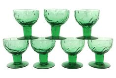 Green Footed Coupes, Set of 7