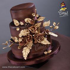 Boda en chocolate y dorado | thecakeart.com