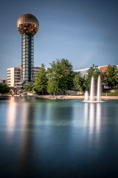 Knoxville Sunsphere. Is that mirror tint at the top?