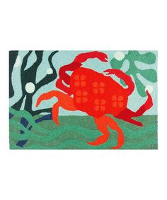 Another great find on #zulily! Red Crab Rug #zulilyfinds